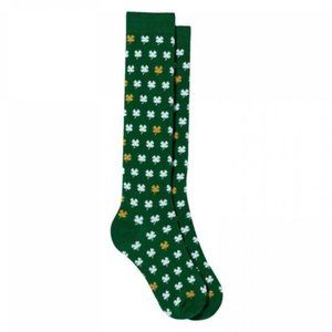 🆕🍀 St. Patrick's Day Mini Clovers Socks GREEN